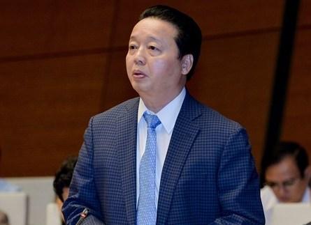 Bộ trưởng Tài nguyên và Môi trường Trần Hồng Hà - Ảnh: quochoi.vn