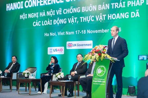 Hoàng tử William kêu gọi cộng đồng quốc tế cần có hành động mạnh mẽ hơn nữa để bảo vệ động vật hoang dã