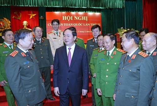 Chủ tịch nước Trần Đại Quang và các đại biểu Ảnh: TTXVN