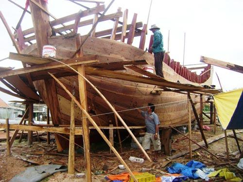 Ngư dân khó tiếp cận nguồn vốn vay nên rất ít tàu được đóng mới