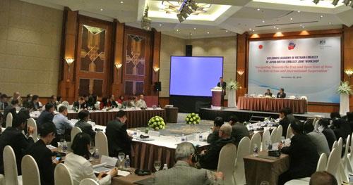 Quang cảnh buổi hội thảo ở Hà Nội ngày 29-11