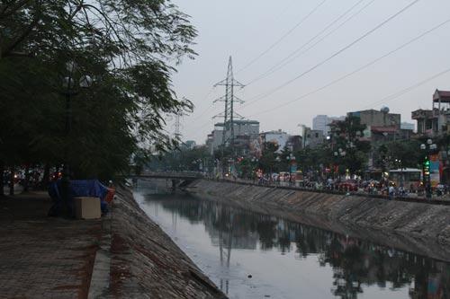 Ngoài vai trò thoát nước, sông Kim Ngưu còn giữ gìn cảnh quan chung cho TP Hà Nội