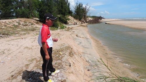 Khu vực biển Bình Châu bị sạt lở nghiêm trọng
