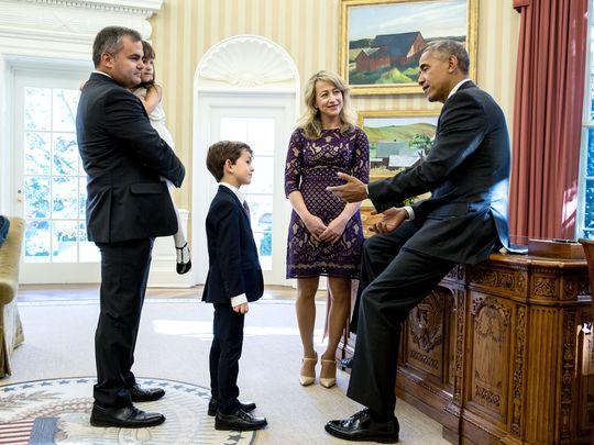 Tổng thống Obama tiếp đón Alex tại Nhà Trắng. Ảnh: Nhà Trắng