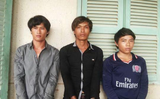 Ba đối tượng lúc bị bắt giữ