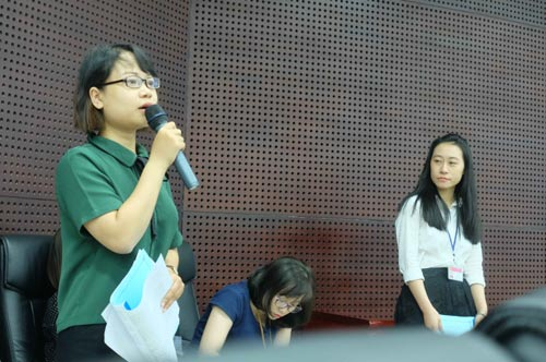 """Chị Ngô Lê Uyên Ly, một """"nhân tài"""" tham gia đề án, cho rằng cần có thời gian để học hỏi kinh nghiệm sau đào tạo"""