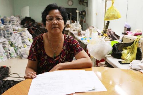 Bà Trần Thị Kim Ngân (Công ty CP Nhựa Tân Hóa) không hy vọng đòi được quyền lợi