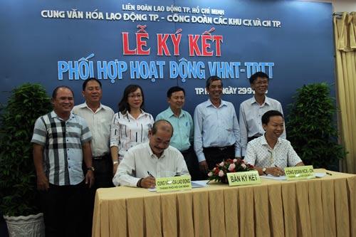 Ký kết chương trình phối hợp hoạt động giữa Cung Văn hóa Lao động TP HCM và Công đoàn các KCX-KCN TP