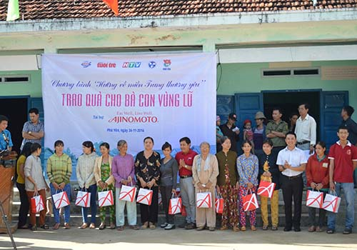 Ajinomoto Việt Nam san sẻ khó khăn với đồng bào miền Trung