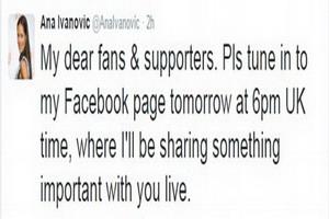 Thông báo của Ana Ivanovic về quyết định giải nghệ