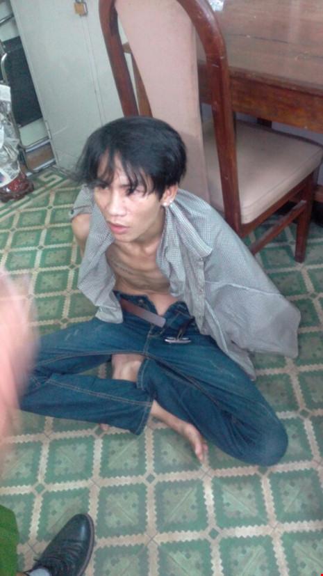 Cao Ánh Sơn bị bắt giữ (ảnh Q.M)