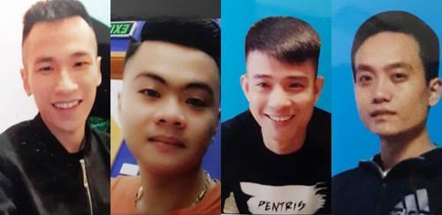 Nhóm nghi can liên quan đến vụ nổ súng khiến chị Phạm Thị Hải Y. bị thương - Ảnh: Tân Kỳ