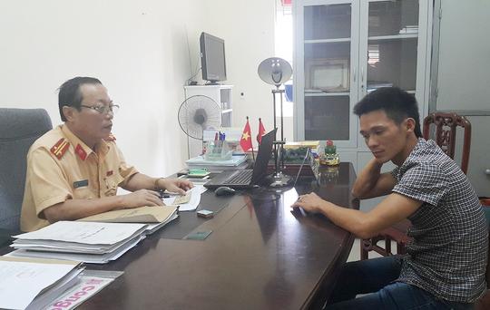 Phòng CSGT Nghệ An triệu tập tài xế Tuấn lên làm việc