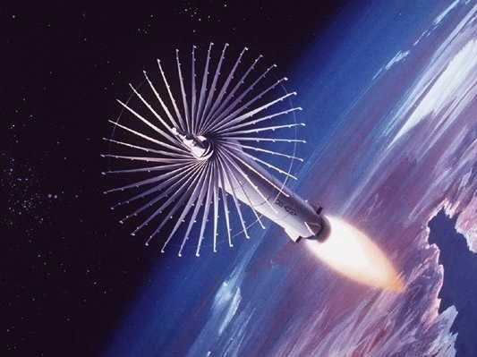 Ảnh mô phỏng tên lửa chống vệ tinh. Ảnh: Business Insider