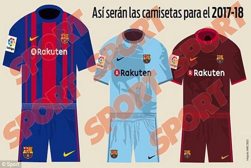 Mẫu áo đấu từ mùa giải 2017-2018 của Barcelona