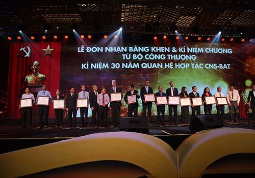 CNS - BAT nhận bằng khen của Bộ Công Thương