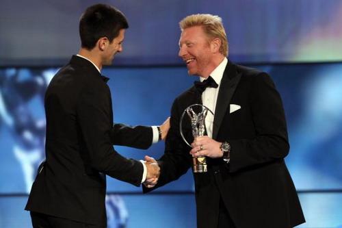 Boris Becker trao giải Laures cho học trò Djokovic
