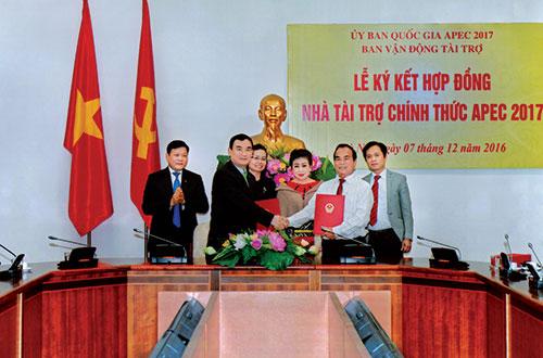Công ty TNHH Sản xuất và Thương mại Tân Quang Minh (Bidrico) trở thành nhà tài trợ chính thức APEC năm 2017Ảnh: Hoàng Anh
