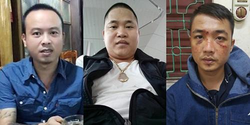 Trần Hùng Dũng, Đặng Văn Đại và Chu Đức Gu Lít (thứ tự từ trái qua phải)