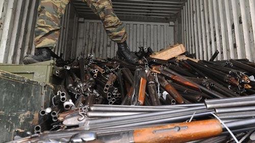 Một trong những kho vũ khí thu được từ dân chúng trong khu vực Rostov-On-Don ở Nga Ảnh: QUORA