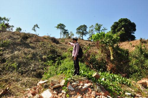 Di tích núi Thiên Bút (TP Quảng Ngãi) đang bị tàn phá để xây dựng khu dân cư, công viên