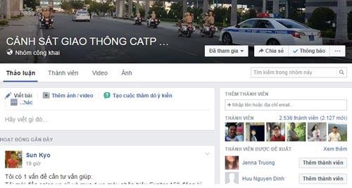 Trang Facebook của CSGT Đà Nẵng mới mở nhưng đã có tới 2.500 thành viên