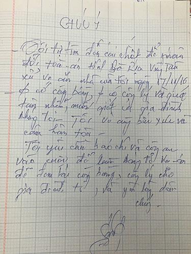 Lá thư tuyệt mệnh