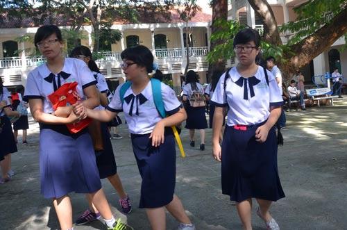 Học sinh Trường THPT Lê Quý Đôn - một trường theo mô hình tiên tiến tại TP HCM Ảnh: Tấn Thạnh