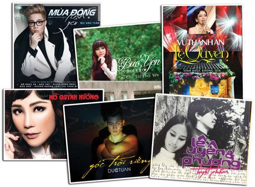 Bìa các album vừa phát hành mùa cuối năm