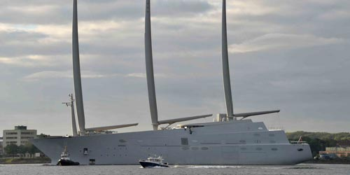 Chiếc siêu du thuyền Sailing Yacht A Ảnh: EPA