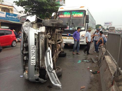 Một vụ tai nạn giao thông ở TP HCM do tài xế không giữ khoảng cách an toàn Ảnh: GIA MINH