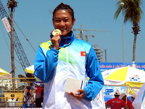 VĐV Lê Tú Chinh giành HCV cự ly chạy 60 m nữ