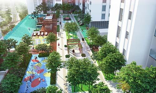 Dự án HaDo Centrosa Garden có tổ hợp tiện ích hiện đại, mảng xanh lớn được khách hàng quan tâm