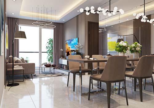 Căn hộ được bàn giao hoàn thiện toàn bộ nội thất của TOTO; Teka...