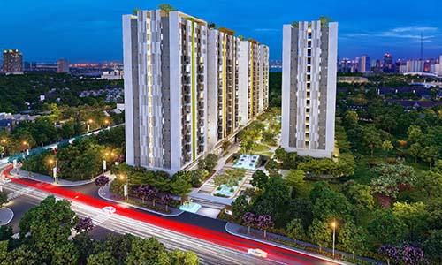1.092 căn hộ của dự án Him Lam Phú An Q.9, TP HCM có diện tích căn hộ từ 62 m2 đến 68 m2