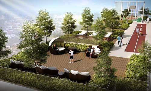 Vườn chân mây tại tầng 30 chung cư HaDo Centrosa Garden - một trong những nơi ngắm nhìn thành phố đẹp nhất tại trung tâm thành phố