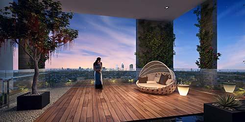 Khu vườn treo trên không, đẳng cấp riêng tư dành cho chủ nhân căn hộ HaDo Centrosa Garden
