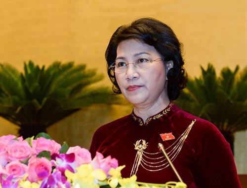 Chủ tịch QH Nguyễn Thị Kim Ngân đề nghị các đại biểu QH nêu cao trách nhiệm, phát huy tinh thần đoàn kết, trí tuệ, thảo luận dân chủ