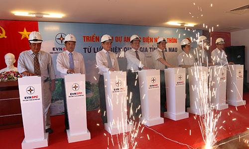 Lễ triển khai dự án cấp điện nông thôn tại Cà Mau