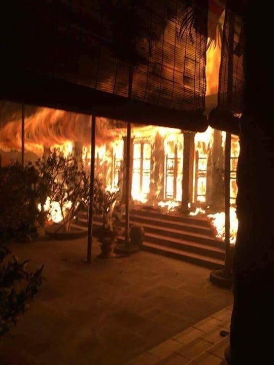 Hiện trường vụ cháy - Ảnh: Thành Đạt