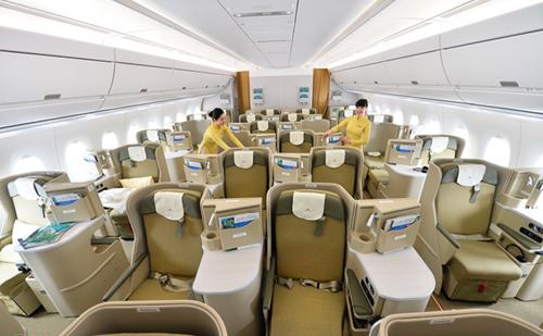 Vị trí ghế ngồi hạng Thương gia trên máy bay Vietnam Airlines - Ảnh: Zing