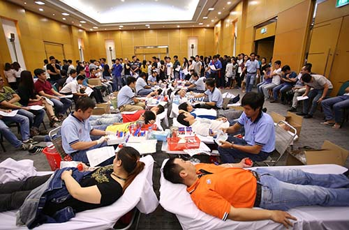 Ngày hội hiến máu nhân đạo giúp cộng đồng