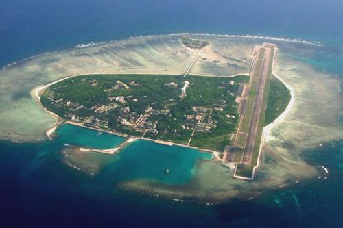 Cái gọi là thành phố Tam Sa trên đảo Phú Lâm thuộc quần đảo Hoàng Sa của Việt Nam. Ảnh: Hinews