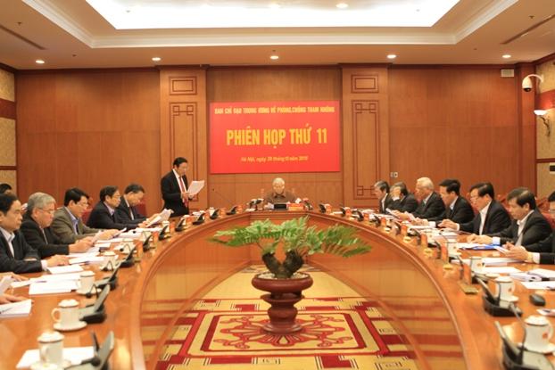 Tại phiên họp thứ 11, Ban chỉ đạo Trung ương về phòng, chống tham nhũng đã xem xét nhiều nội dung quan trọng