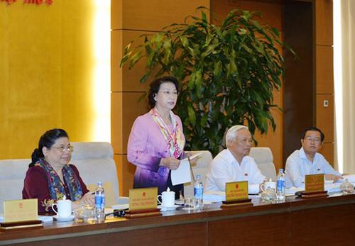 Chủ tịch QH Nguyễn Thị Kim Ngân đã bày tỏ sự không hài lòng khi không thấy sự có mặt của Bộ trưởng NN-PTNT khi buổi họp bắt đầu