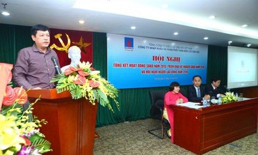 Ông Lê Chung Dũng phát biểu chỉ đạo tại hội nghị tổng kết hoạt động sản xuất kinh doanh năm 2015 của PV Power Coal, công ty con của PV Power - Ảnh: Petrovietnam
