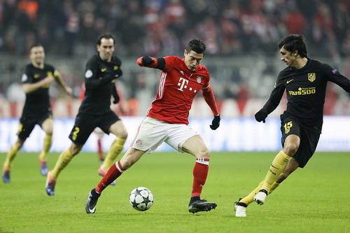 Lewandowski ghi bàn duy nhất, giúp Bayern đòi nợ Atletico Madird