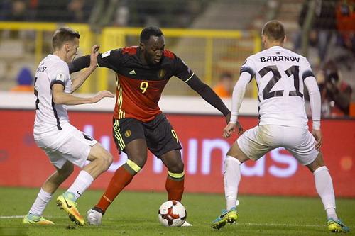 Romelu Lukaku lập cú đúp cho chủ nhà Bỉ