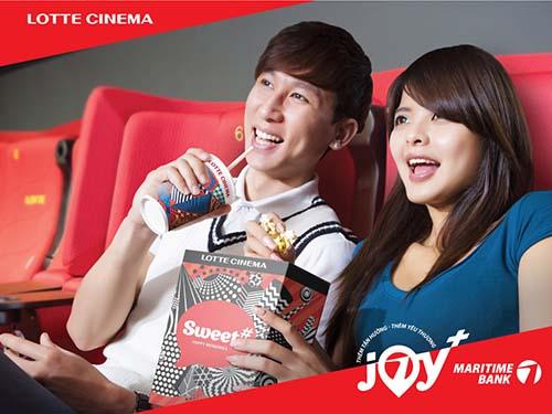 Hoàn tiền cho chủ thẻ Maritime Bank khi thanh toán tại Lotte Cinema