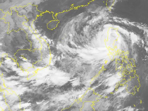 Hình ảnh mây vệ tinh bão Sarika - Nguồn: Trung tâm dự báo khí tượng thủy văn Trung ương
